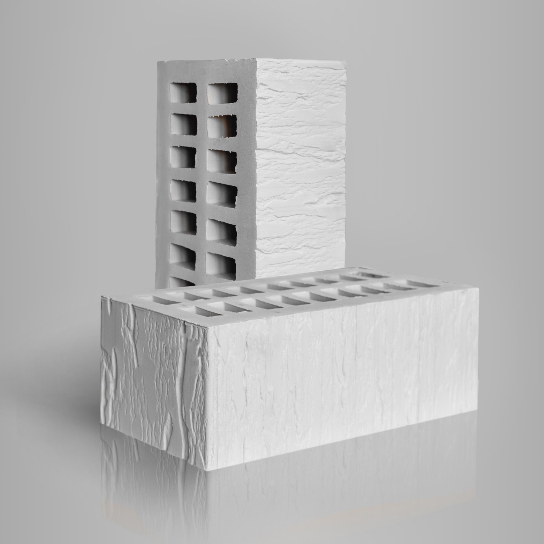 Кирпич керамический лицевой пустотелый 1.4НФ CORTEX Белый