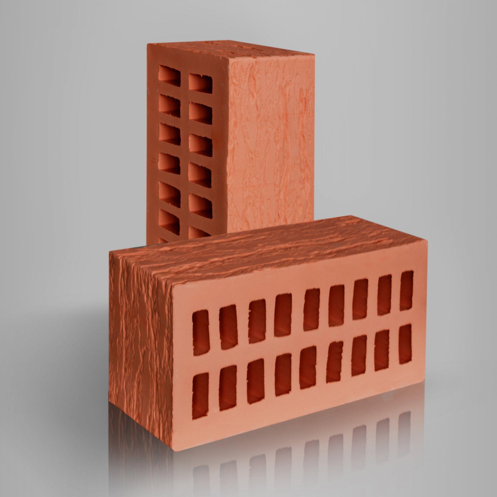 Кирпич керамический лицевой пустотелый 1.4НФ CORTEX Красный