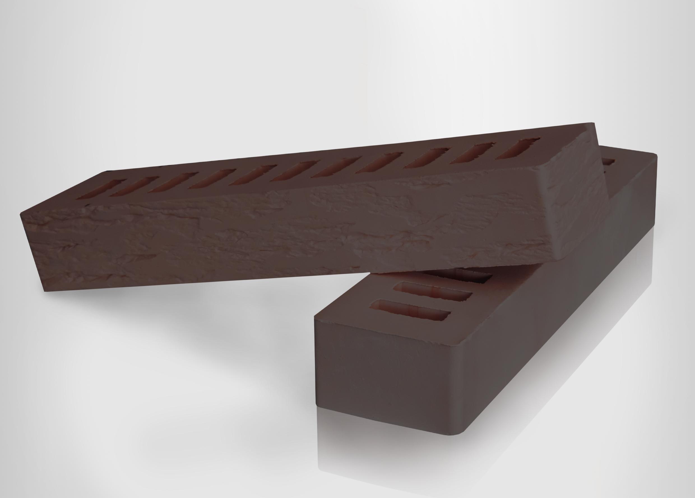 Кирпич керамический лицевой пустотелый ригель 0.75НФ Коричневый ROCK